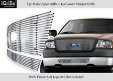 Fits 2006-2008 Ford F-150 Honeycomb Style Stainless Steel Billet Grille Combo