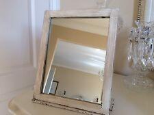 Shabby Chic Dressing Table / Bathroom Mirror Paint Original White Annie Sloans