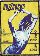 THE BUZZCOCKS PATCH ORGASM ADDICT ENGLISH PUNK ROCK 1977 OVER LOCKED A6+