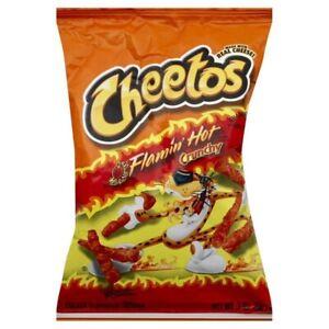 Cheetos Flaming Flamin Hot Crunchy Crisps Snacks Chips American USA Import 56G