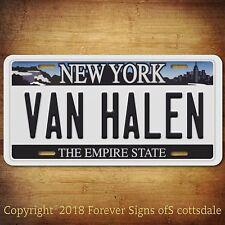 Van Halen Rock Band New York Aluminum Vanity License Plate Tag New