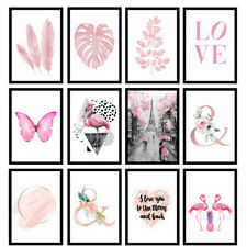 Pink, Blush, Fuchsia, Rose Gold Girls Home Decor Bedroom Art Prints Wall Posters