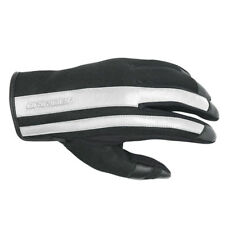 4XL Mens DriRider Urban Retro Motorbike Gloves Summer Vented Black White