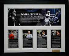 Roger Federer Limited Edition Signed Framed Memorabilia New