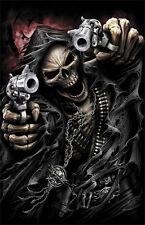 "5.75"" Grim reaper assassin vinyl sticker decal motorcycle guitar helmet custom"