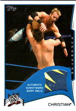 WWE Christian 2014 Topps Event Used Shirt Relic Card 3 Color