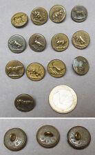 13 bouton de chasse vénerie 19e cheval sanglier  Chien R.L & Fdog horse button