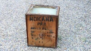 VINTAGE 1960's Tea Chest Storage Crate ~ Camper Log Cabin shop Steampunk Kitsch