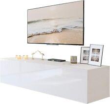 LUK  COLGANTE 150 cm Lowboard Hängeschrank Weiß Hochglanz Fernsehschrank LED