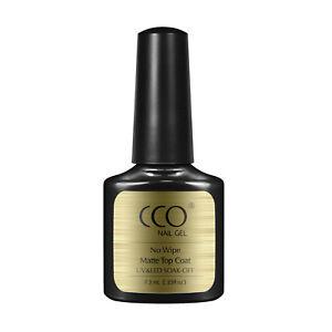 CCO MATTE TOP COAT 7.3ml NO WIPE NAIL GEL POLISH SOAK OFF PROFESSIONAL UV LED