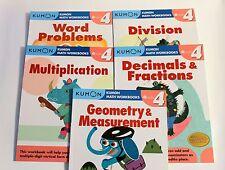 KUMON Math Workbooks Grade 4 Set  (5 Books) --FREE Shipping