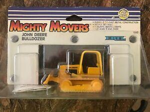 Vintage ERTL Mighty Movers John Deere BULLDOZER 1:50 #1043 MIP NEW 1988