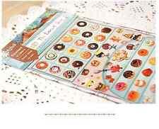 Lovely stickers scrapbook DIY paper doughnut donut food