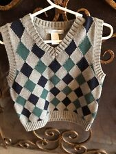Janie And Jack Size 2 Boys Sweater Vest. Perfect For The Holidays