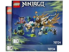 REDUCED Instruction Manual Lego 70734 Ninjago MASTER WU DRAGON INSTRUCTIONS ONLY
