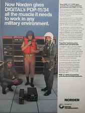 4/77 PUB UNITED TECHNOLOGIES NORDEN PDP-11/34M DEC MINICOMPUTER PILOT HELMET AD