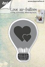 Joy Crafts Die Cutting Embossing Debossing Stencil LOVE AIR BALLOON 6002/0665