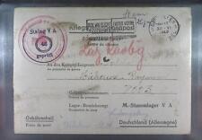 Camp Stalag VA Ludwigsburg 1942 POW Prisoner Belgium Red Cross Rote Kreuz L46ah
