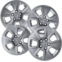 """4 PC Hubcaps Fits 10-13 Kia Soul 15"""" Silver Replacement Wheel Skin Cover"""
