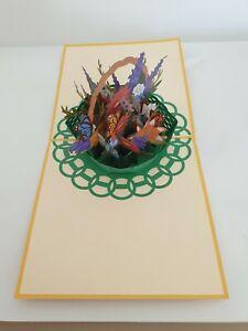 3d pop up Basket Flower Card