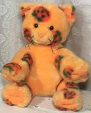 """Build A Bear Halloween Cat Orange Pumpkins 12"""" Retired (A)"""