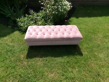 Pink velvet fabric stool footstool coffee table large ..