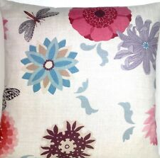 Dragonfly Flowers Cushion Cover Osborne & Little Fabric Sylphe Printed Linen