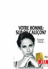 PUBLICITE  ADVERTISING  1991   JIL   caleçons slip sous vetements homme