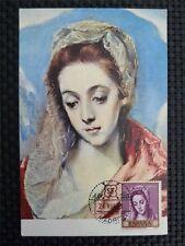 SPAIN MK 1961 MADONNA MARIA MAXIMUMKARTE CARTE MAXIMUM CARD MC CM c1655