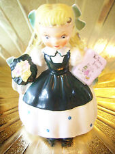RARE VTG Napco Goldilocks Girl w/ Three Bears Book Planter Figurine