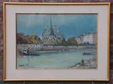 Notre Dame, superbe aquarelle de Robert  L.P LAVOINE