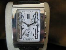 BULGARI Rettangolo chronograph watch mint condition RTC 49S L2501