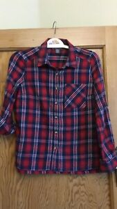 Red Check Shirt Size 8
