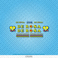 De Rosa Bicycle Decals - Transfers - Stickers - Yellow & Blue Text - Set 0526