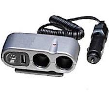 AUTO Accendisigari Multi Presa CON USB E LUCE LED GRANDE POTENZA Extender