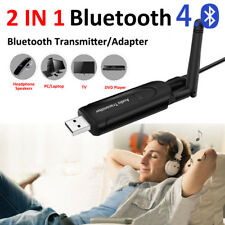 AUX to Bluetooth Wireless w/External Antenna Audio Transmitter for Headsets TV