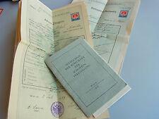 SCHOTTENGYMNASIUM Wien: 15 Zeugnisse 1909-15 für RICHARD KAAN & Verzeichnis 1937