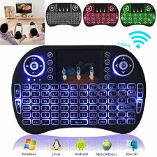 MINI 2.4G Wireless Backlit Keyboard Air Mouse Touchpad For Android TV BOX PC 360