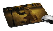 Girl Playing Music Mousepad Soft Rubber Keyboard Large Computer Gaming Mouse Mat