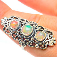 Large Ethiopian Opal 925 Sterling Silver Ring Size 8 Ana Co Jewelry R61868F