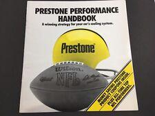 Prestone Performance Handbook 1989 Product Catalog NFL Football Advertising