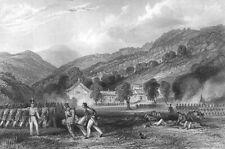 China, BATTLE OF ZHAPU JOSS HOUSE CHAPU OPIUM WARS ~ 1842 Art Print Engraving