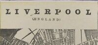 "Vintage 1900 LIVERPOOL ENGLAND Map 14""x11"" ~ Old Antique Original BEATLES LENNON"