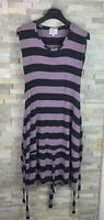 The Masai Clothing Company Ladies Size S Purple Striped Dress