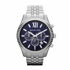 New Michael Kors MK8280 Men's Lexington Navy Blue Dial Chronograph Watch