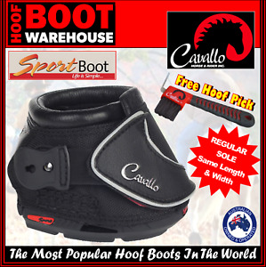 Cavallo 'SPORT' Hoof Boots (Pair)  -  Horse. Equine. Protection. REGULAR SOLE!