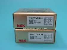 NSK 7203CTYNSULP4 Abec-7 Super Precision Spindle Bearings. (Matched Set of Two)