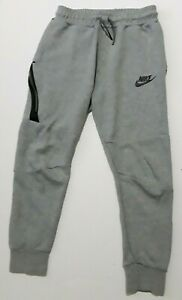 Nike Tech Fleece Joggers Tapered Pants Youth Boys Medium Gray 804818-064