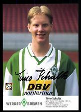 Timo Schultz Autogrammkarte Werder Bremen 1996-97 + A 100951 D