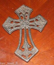 """Cast Iron Cross Wall Hanging ~ Antiqued Rust Finish { 5 1/2"""" Tall } ~ by PLD"""